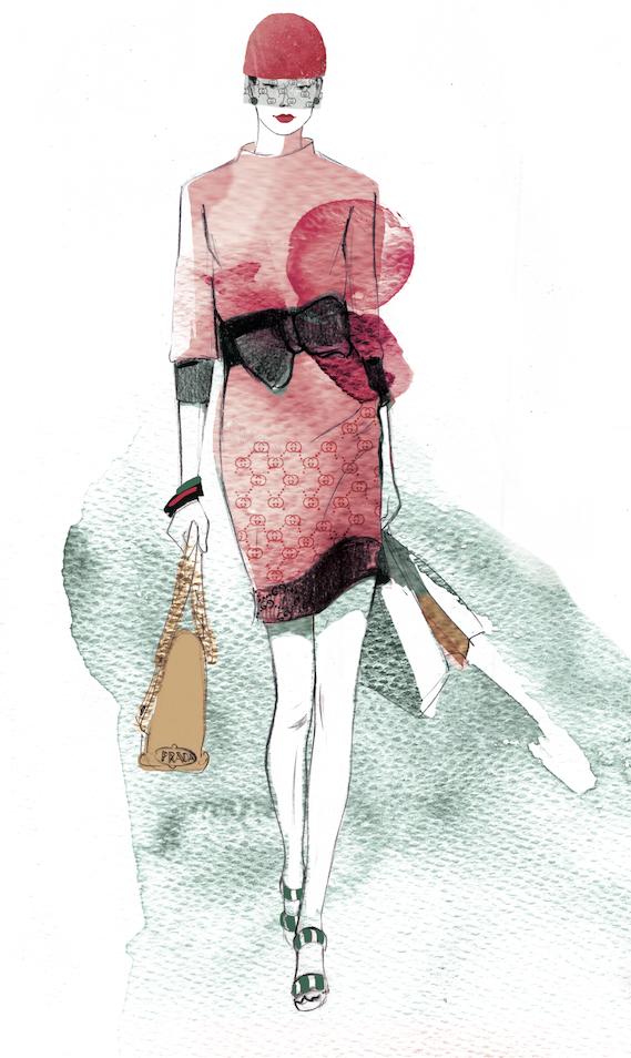... Werbeagentur  Modeillustrationen für das wienlive Magazin