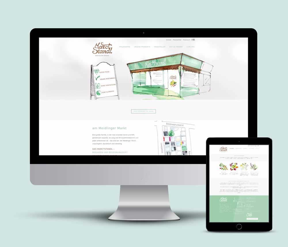Logo, Webdesign und der Website für MarctStandl