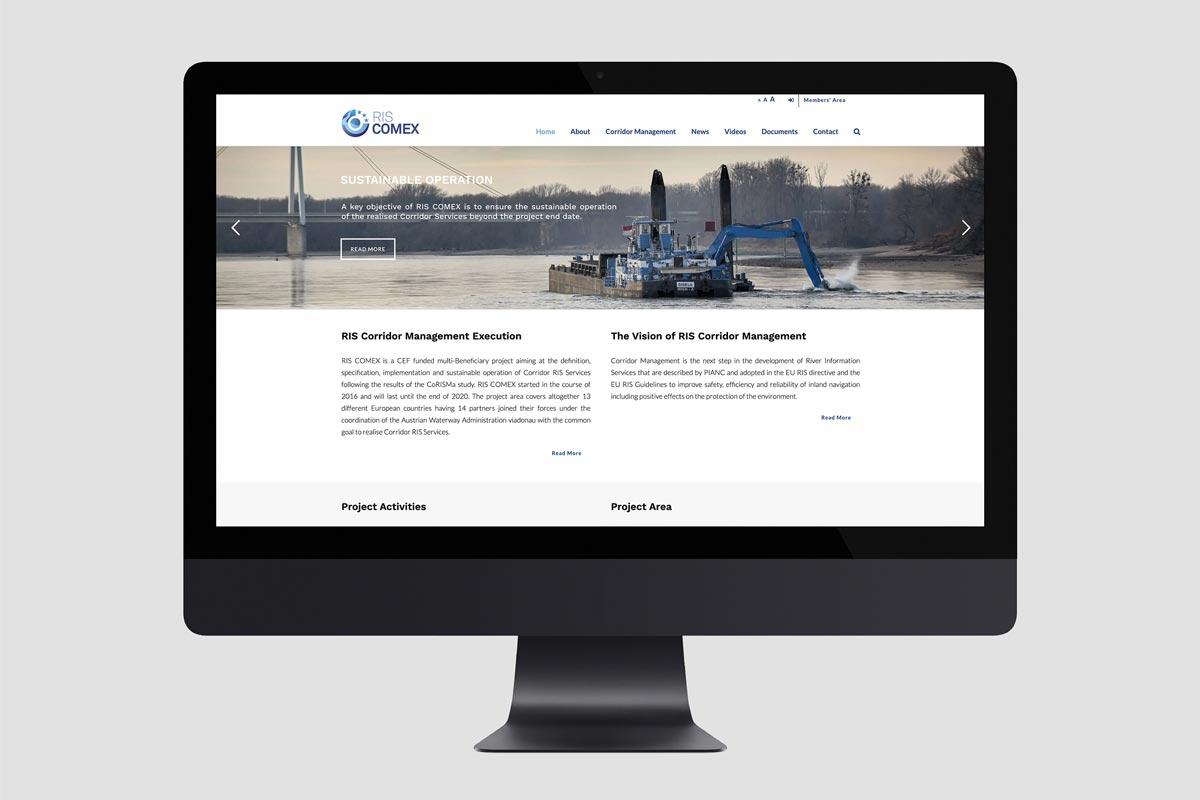 Webdesign und Entwicklung für Via donau - Österreichische Wasserstraßen-Gesellschaft mbH