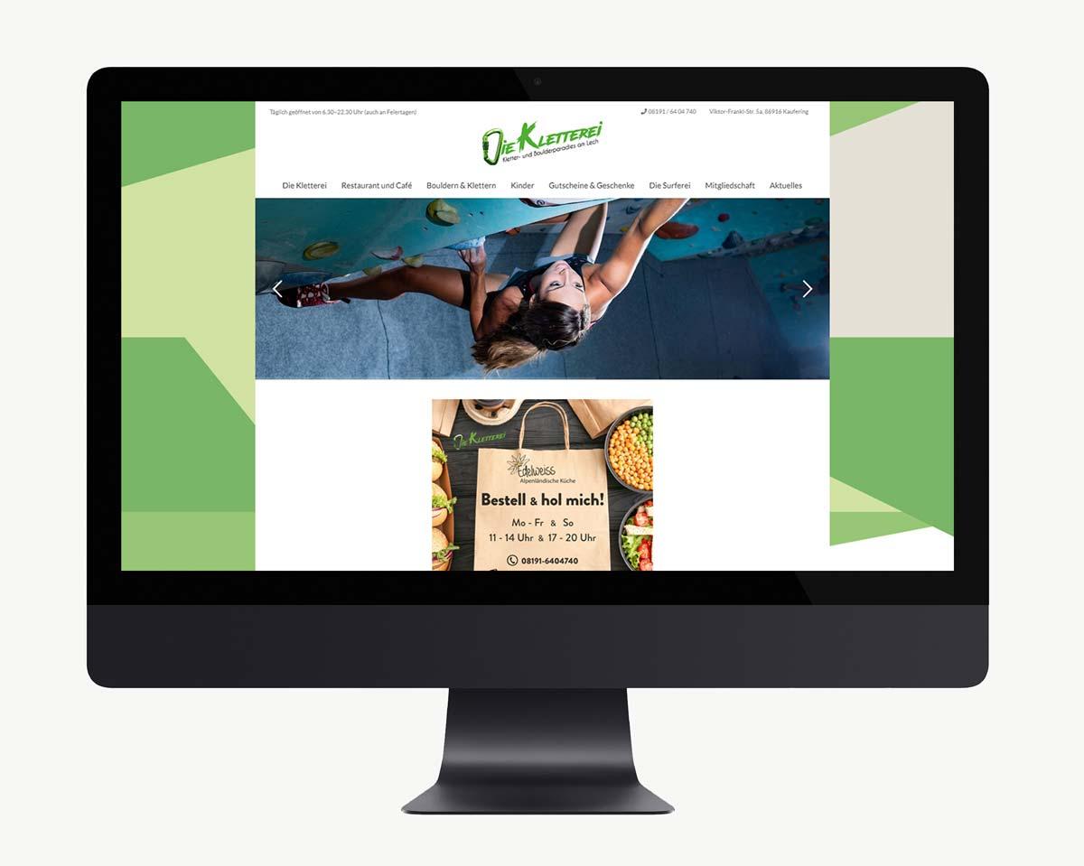 Webdesign und WordPress Website für die Kletterei
