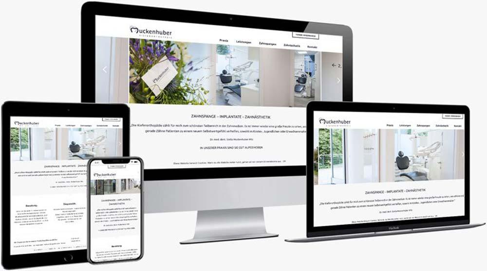 Webdesign und Umsetzung der Website mit WordPress für Zahnarztpraxis Dr. Muckenhuber