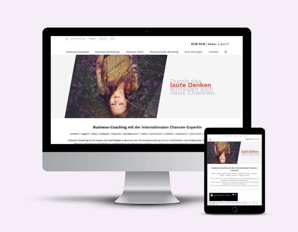 Homepage Design und Erstellung der Website mit WordPress für denkmallaut.at