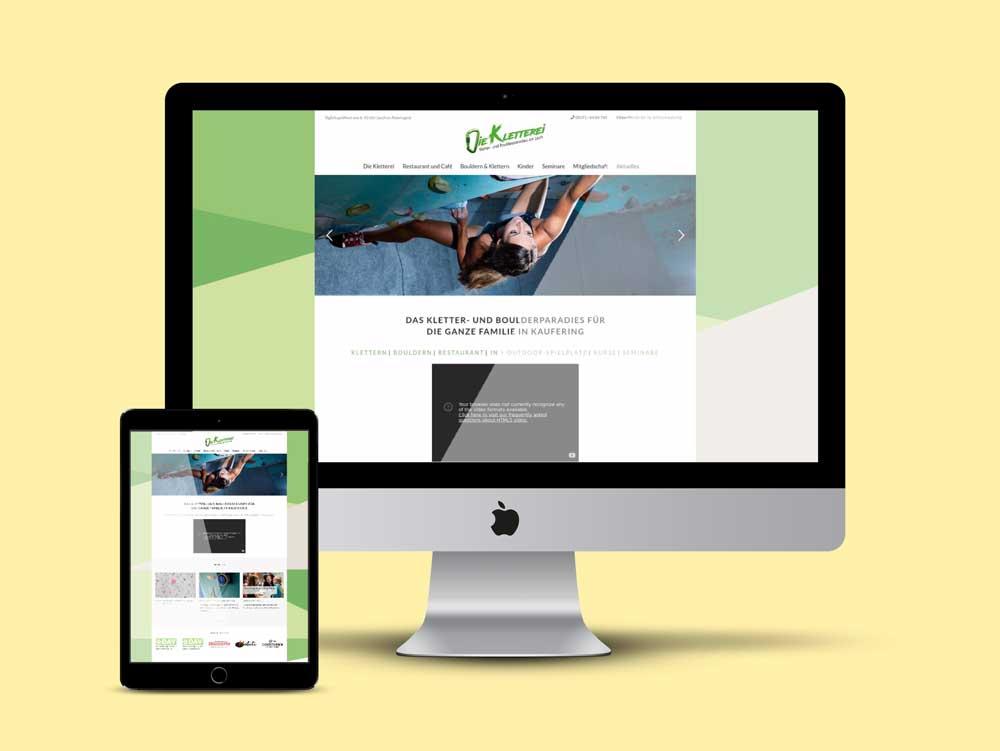 Webdesign für Kletterhalle