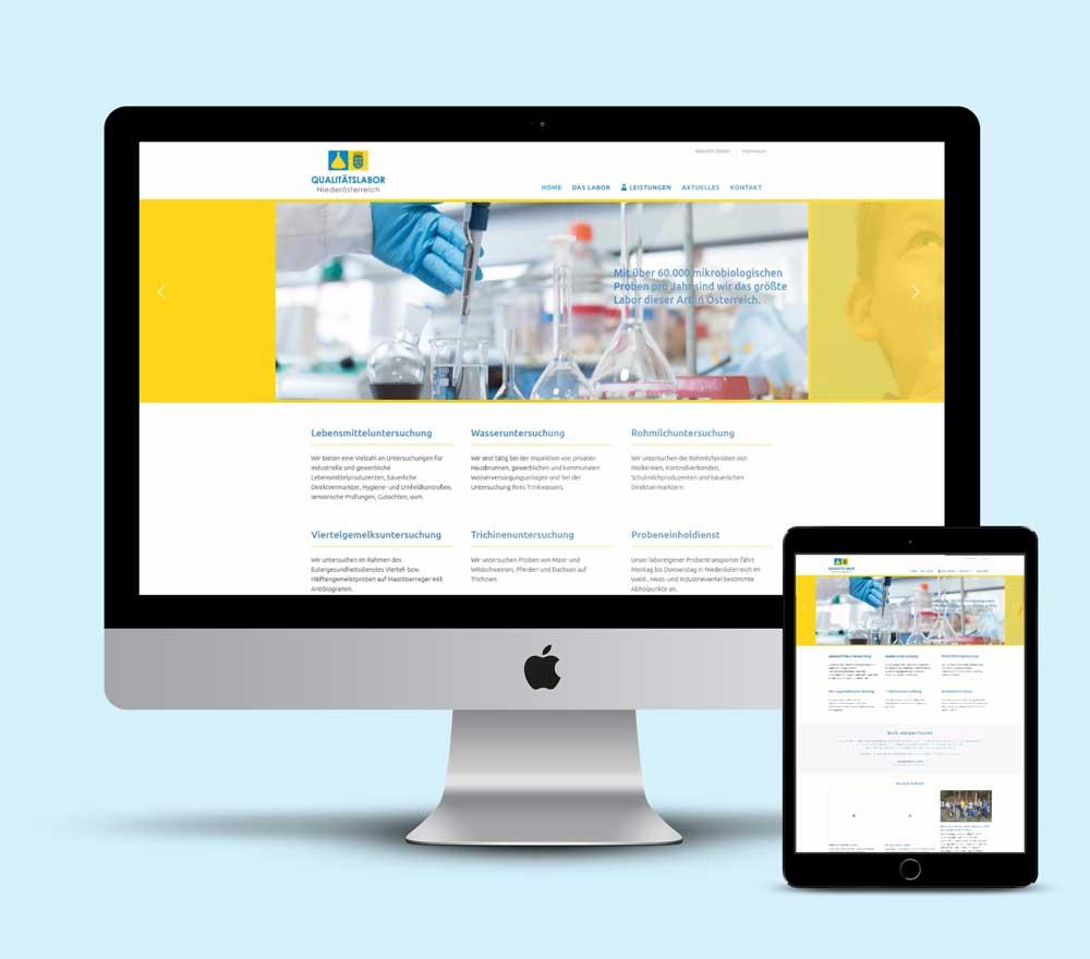 Webdesign für Labor