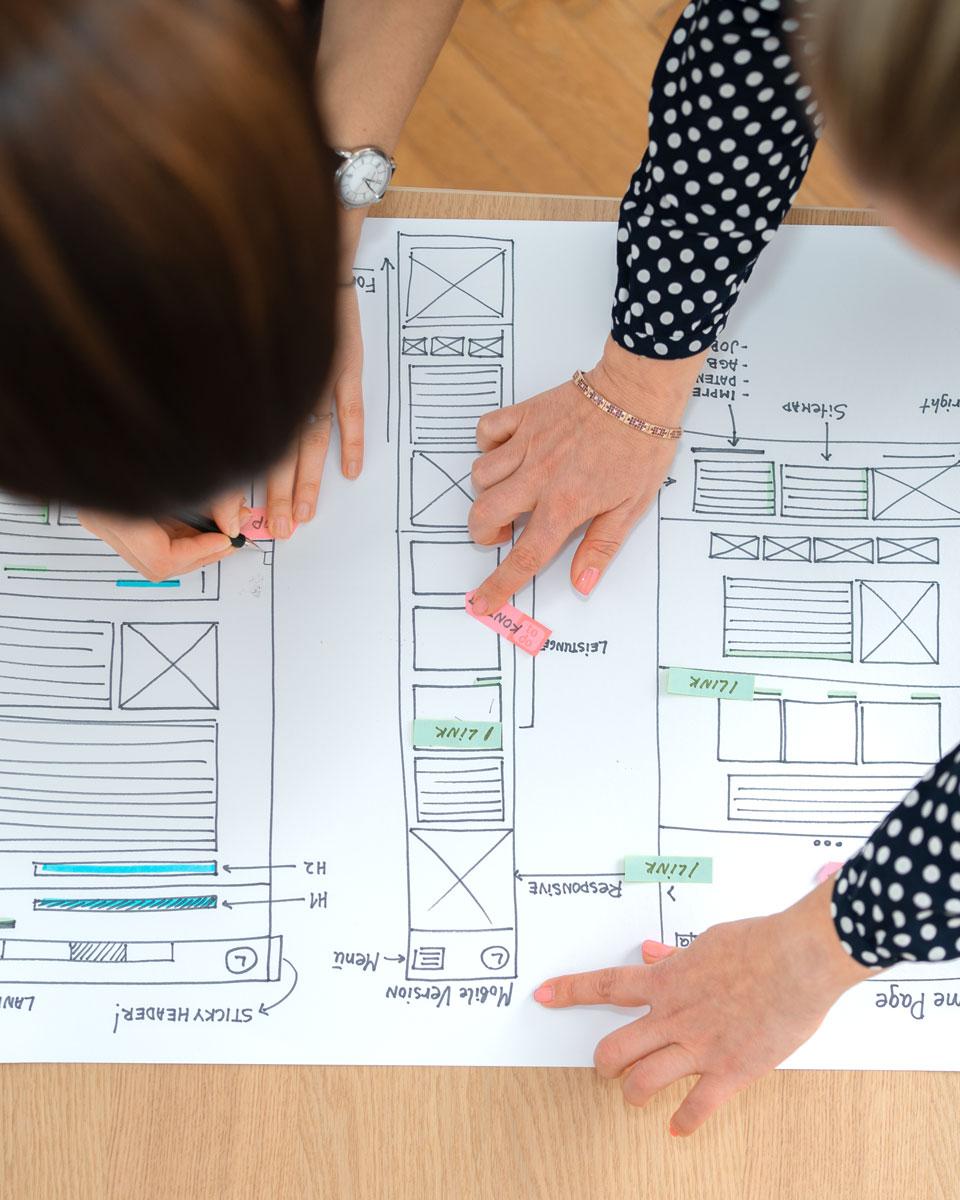 Website visuelle Konzeption und Design