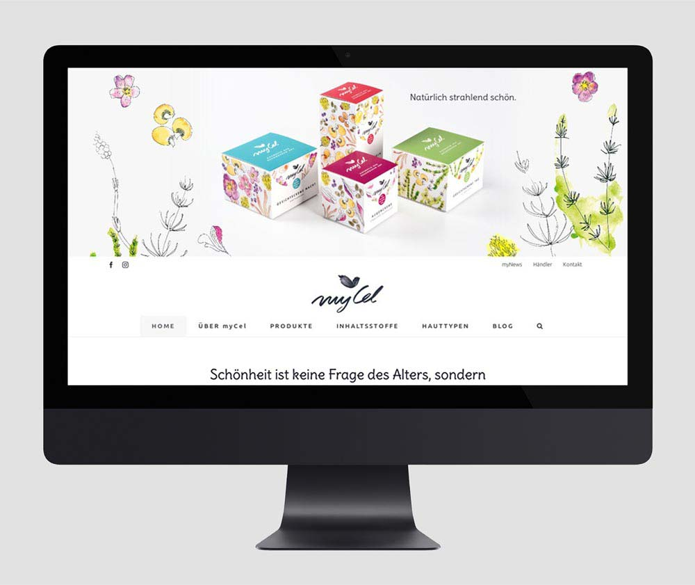 Webdesign und Website mit WordPress für mycel.at