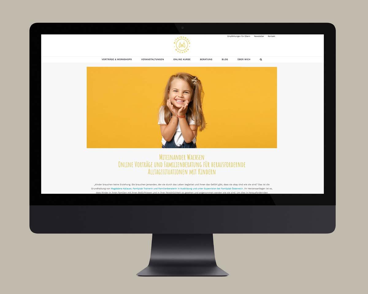 Webdesign und Wordpress Webseite für miteinander-wachsen.at