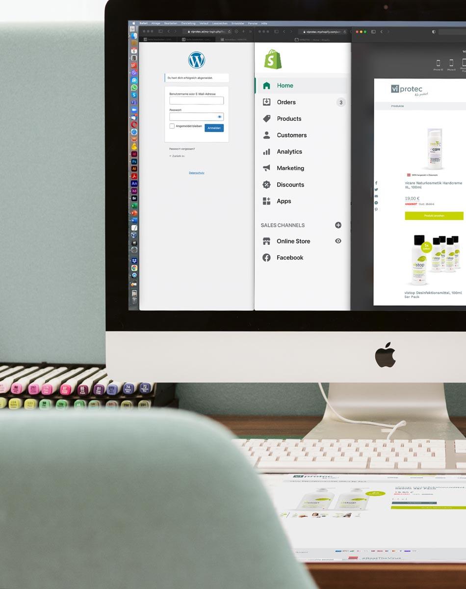 Webshop erstellen mit WooCommerce für WordPress oder Shopify