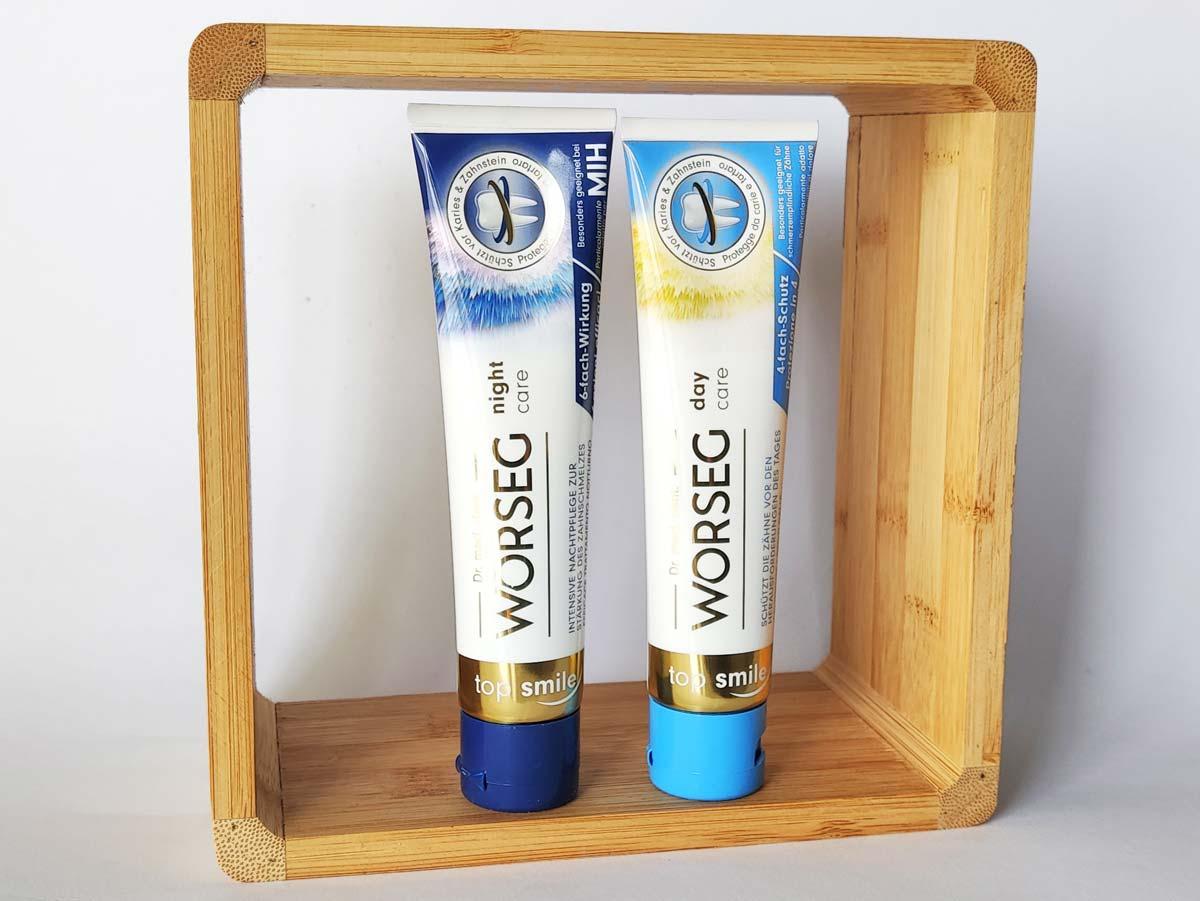Verpackung und Design der Worseg Top Smile Zahncreme